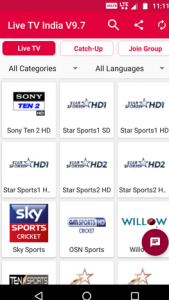 Live TV India Channels